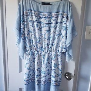 BCBGMaxAzria Blue Handerchief Mini Dress XS/S